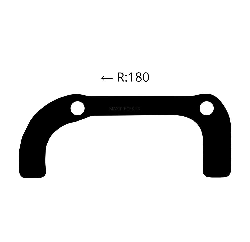 Brake disc adapter 360625 model m-wave 180mm rear mount for atv