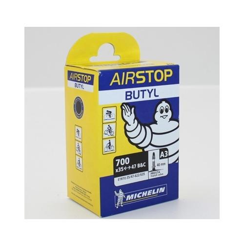 Chambre air v lo 700x35 47 b c michelin airstop valve presta 40mm v lo route ebay - Chambre a air velo route 700x23 ...