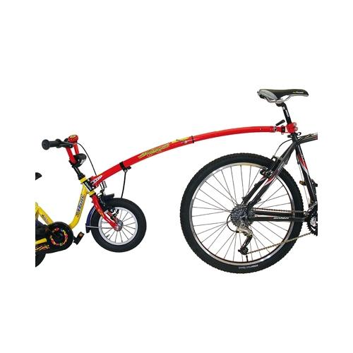 barre de remorquage trail gator velo tandem rouge remorque pour velo enfant ebay. Black Bedroom Furniture Sets. Home Design Ideas