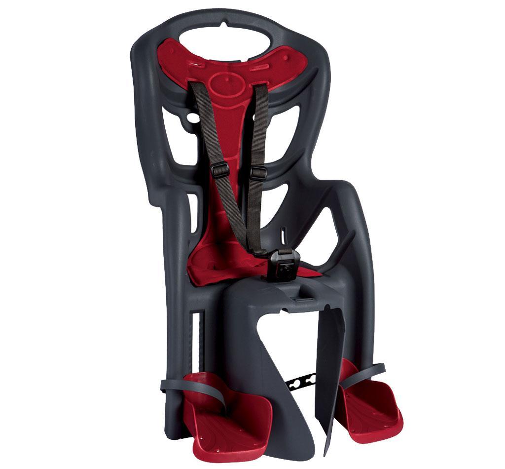 si ge enfant porte b b sur cadre v lo vtt gris coussin rouge bellelli pepe ebay. Black Bedroom Furniture Sets. Home Design Ideas