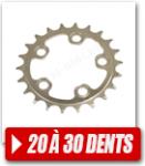 Plateaux de 20 à 30 dents