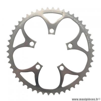 Plateau 50 dents compact diamètre 94mm argent 5 branches (extérieur) marque Spécialités TA - Pièce vélo