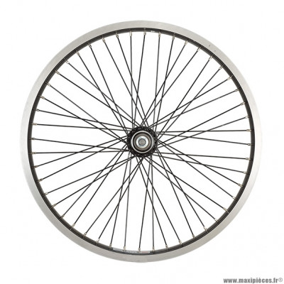 Roue vélo BMX 20 pouces arrière axe 14mm mx 48t jante/rayons noirs - Accessoire Vélo Pas Cher