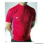 Maillot gris/rouge m fermeture invisible mc poche zip marque Atoo - Matériel pour Vélo