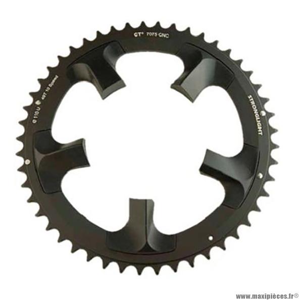 Plateau 49 dents route diamètre 110 extérieur noir ct2 ultegra 6750 téflon ceramic 10v. marque Stronglight - Pièce Vélo
