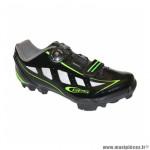 Chaussure VTT rider noir-vert fluo brillant (taille 41) fixation boa compatible spd (paire)