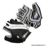 Gant Vélo été air comfort noir-blanc m (paire sous carte) - Equipements Cycle GES