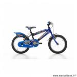 Vélo enfant 16 flipper acier garçon noir-rouge - Vélos Jumpertrek