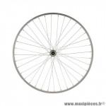 Roue vélo avant 26p marque PERF alu axe plein