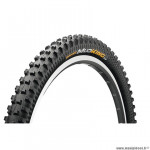 Pneu VTT 27.5x1.80 tringle souple marque Continental mud king tubeless ready protection couleur noir 550 g. (47-584)