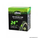 Chambre à air VTT 24x1.75/2.125 valve schrader marque Slime avec liquide anti-crevaison