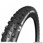 Pneu VTT 27.5x2.10 tringle souple marque Michelin force xc competition line tubeless ready couleur noir (54-584)