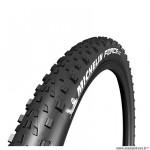 Pneu VTT 27.5x2.25 tringle souple marque Michelin force xc competition line tubeless ready couleur noir (57-584)