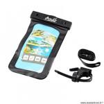 Support smartphone marque Atoo etanche fixation sur cintre (dimension 11cmx18cm) + prise jack