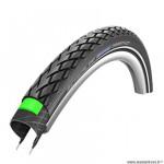 Pneu VTC 700x38 tringle rigide marque Schwalbe marathon couleur noir (40-622) vae/e-bike ready 50