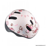 Casque enfant baby marque Polisport xxs baby birdy taille 44/48 couleur rose avec réglage occipital