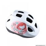 Casque enfant baby marque Polisport xs kids princess taille 46/53 couleur rose/blanc avec réglage occipital