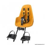 Porte-bébé vélo avant sur tube de direction marque Bobike one mini - mighty mustard