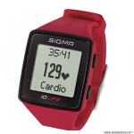 Cardio/montre marque Sigma id.life couleur rouge