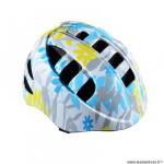 Casque enfant baby marque Optimiz o-200 baby flower taille 48/52 couleur blanc/bleu avec réglage occipital