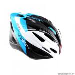 Casque route/VTT marque Optimiz o-300 vision taille 58/61 couleur bleu/blanc/noir verni avec réglage occipital