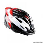 Casque route/VTT marque Optimiz o-300 vision taille 58/61 couleur rouge/blanc/noir verni avec réglage occipital