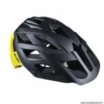 Casque VTT marque Optimiz o-330 taille 55/58 couleur noir/jaune mat in-mold avec réglage occipital