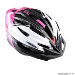 Casque route/VTT marque Optimiz o-300 vision taille 52/56 couleur rose/blanc/noir mat avec réglage occipital