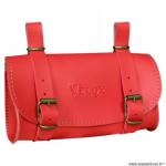 Sacoche selle marque Vélox vintage classic couleur rouge