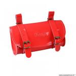 Sacoche selle marque Vélox vintage classic couleur rouge vernis