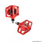 Pédales VTT/trail/enduro auto marque Time atac speciale 12 couleur rouge corps alu 6016 404gr