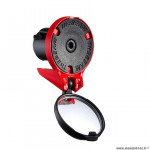 Rétroviseur vélo the beam corky cyclo/route racing couleur rouge réglable