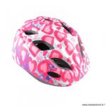 Casque enfant marque Polisport S junior glitter taille 52/56 couleur rose mat in mold avec réglage occipital