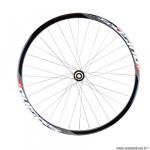 Roue vélo route 700 arrière jante couleur noir pulse. moyeu disc centerlock 9/10/11v axe travers.12x142 marque Vélox