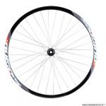 Roue vélo route 700 avant jante couleur noir mach1 pulse. moyeu disc centerlock axe traversant 12x100 marque Vélox