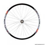 Roue vélo route 700 arrière k7 jante couleur noir stormer 15. moyeu disc centerlock 9/10/11v axe traver.12x142 marque Vélox