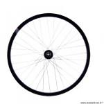 Roue vélo route 700 arrière blocage k7 jante couleur noir mach1 gravel. moyeu shimano m475 disc 6t 9/10v marque Vélox