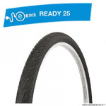 Pneu VTC 700x38c tringle rigide marque Deli Tire blue way anticrevaison 2.5mm f. réfléchissant couleur noir (40-622) e bik