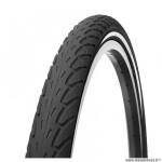 Pneu VTT 26x1.75 tringle rigide marque Deli Tire blue way anticrevaison 2.5mm f. réfléchissant couleur noir (47-559) e bik