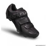 Chaussures vélo VTT marque FLR elite f65 taille 43 couleur noir 2 bandes auto agrippantes + clic