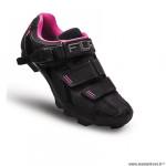 Chaussures vélo VTT marque FLR elite f65 taille 40 couleur noir/rose 2 bandes auto agrippantes + clic