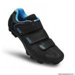 Chaussures vélo VTT marque FLR elite f55 taille 42 couleur noir/bleu 3 bandes auto agrippantes