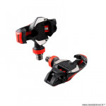 Pédales vélo route auto marque Timexpro 12 carbone axe titane couleur noir/rouge 188gr