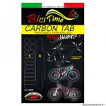 Protection cadre vélo film polyurethane taille M 14 patchs carbone