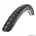 Pneu VTT 27.5x2.00 tringle souple marque Schwalbe marathon mondial couleur noir (50-584) vae/e-bike ready 25