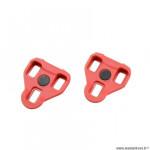 Cale-pédales route marque Atoo type look keo mobile 7 degrés couleur rouge