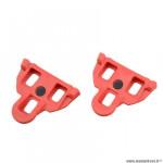 Cale-pédales route marque Atoo type shimano spd-sl mobile 4.5 degrés couleur rouge