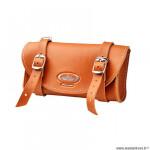 Sacoche selle marque Monte Grappa imitation cuir vintage couleur marron miel