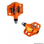 Pédales VTT/trail/enduro auto marque Time atac speciale 8 couleur orange corps alu 396gr
