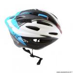 Casque route/VTT marque Optimiz o-300 vision taille 52/56 couleur bleu/blanc/noir verni avec réglage occipital